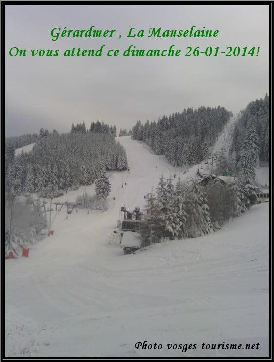météo vosges: chute de neige à Gérardmer la Mauselaine