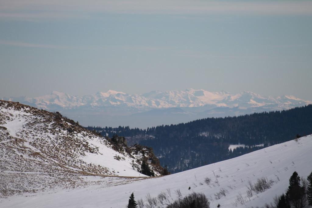 vue des Alpes depuis le Hohneck