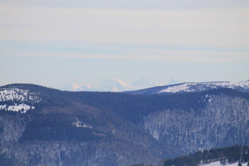 Vue des Alpes dans les Vosges