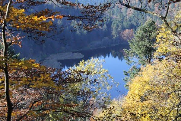 Vue sur le lac de Blanchemer