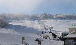 Prépatation des pistes de ski à la Schlucht