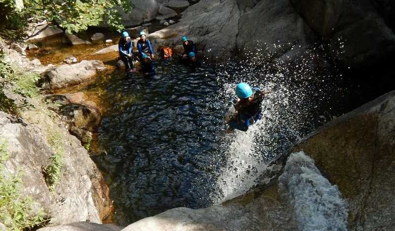 Canyoning cascades d'Orgon dans l'Herault