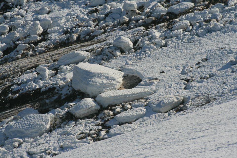 coulée de neige dans les Vosges