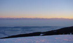 sortie raquettes vue des alpes suisses