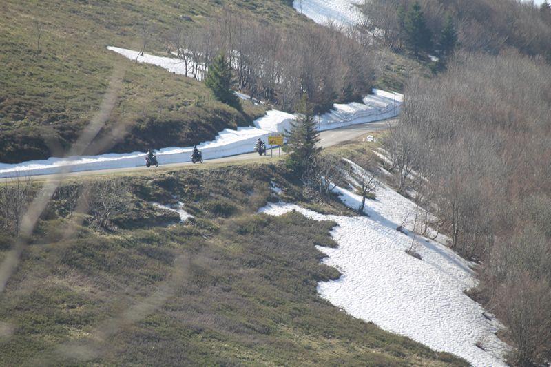 route des cretes fermée a moto