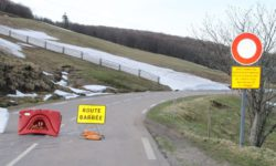 route des crêtes fermée