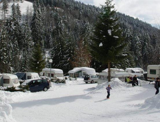 camping hiver pour le ski dans les Vosges