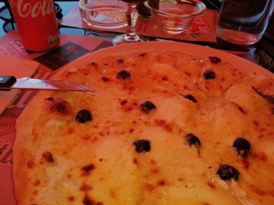 pizza chevre miel
